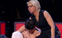 Ad Amici 15 si piange: le lacrime di Alessio La Padula e di Chiara Grispo