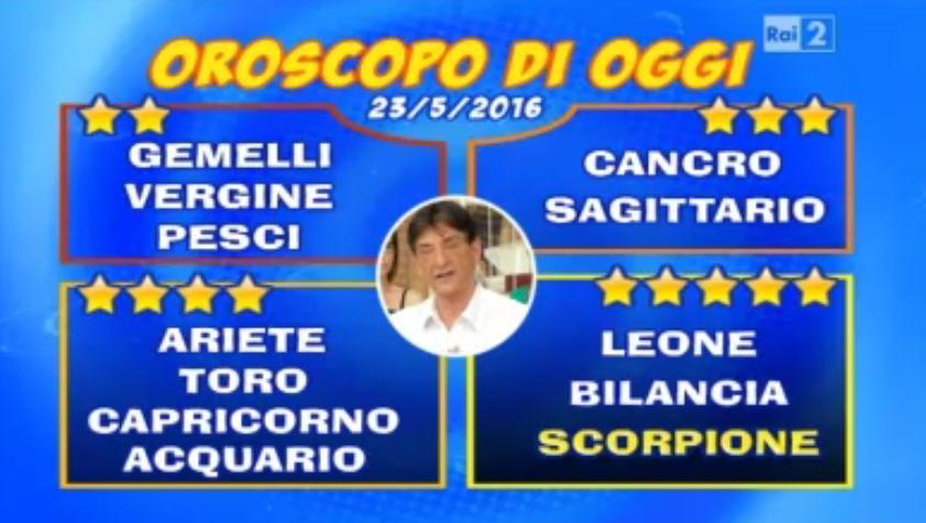 oroscopo 23 05 2016