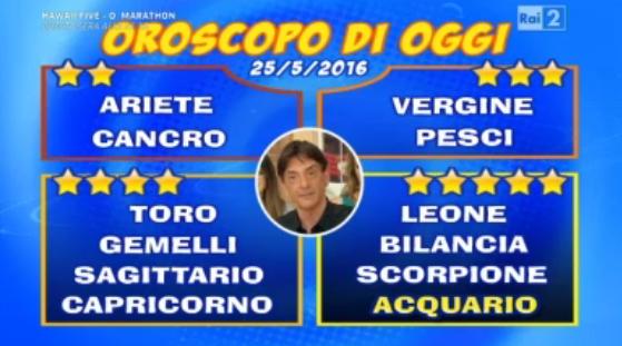 oroscopo 25 05 2016