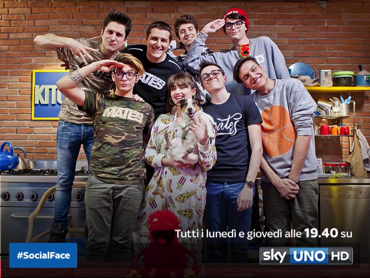 Socialface su Sky Uno HD: webstar e videogames protagonisti in tv