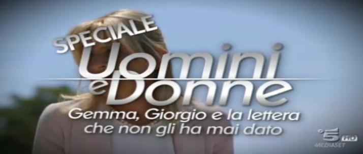 Speciale Uomini e donne – Gemma e Giorgio: la puntata del 3 giugno 2016 in diretta live