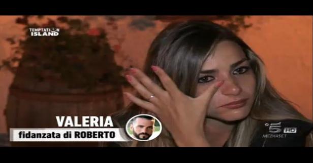 Seconda puntata, lo sfogo di Valeria