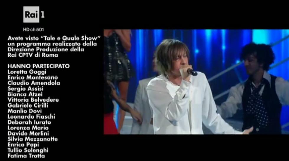 40 Tale e Quale Show, vincitore quarta puntata Leonardo Fiaschi Gianna Nannini