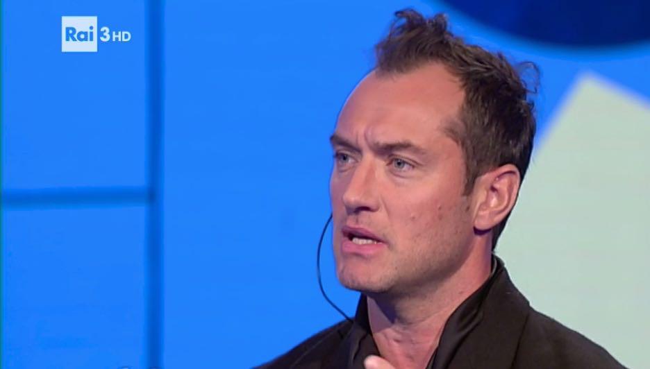 Jude Law ospite a Che tempo che fa per presentare la serie tv The Young Pope