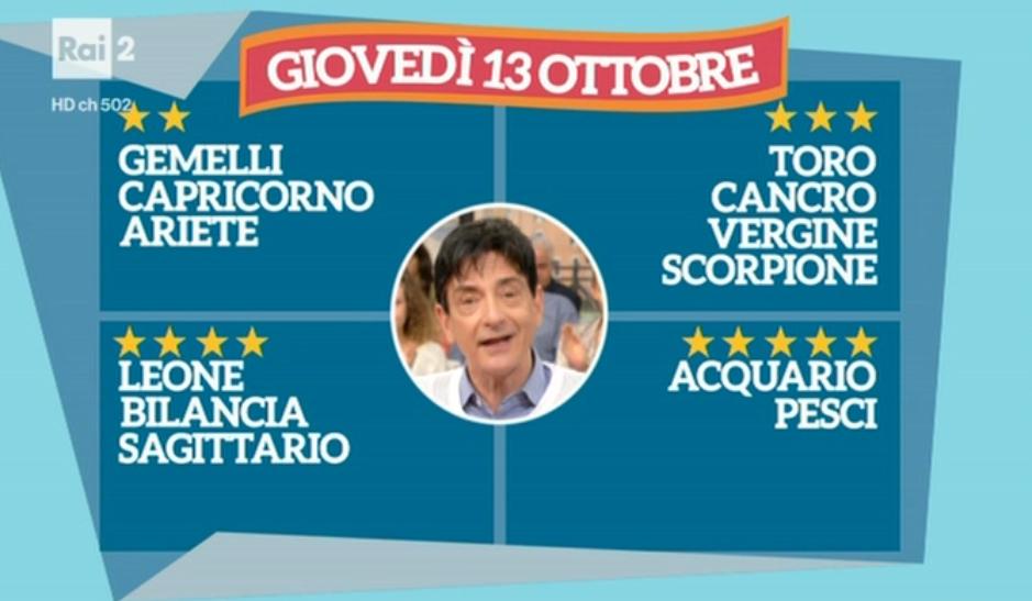 I Fatti Vostri, oroscopo di Paolo Fox del 13 ottobre 2016