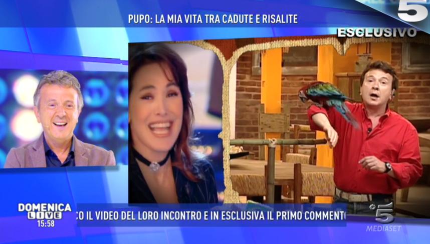 Domenica Live, Barbara D'Urso a Pupo: 'Come conduttore ti ho inventato io'