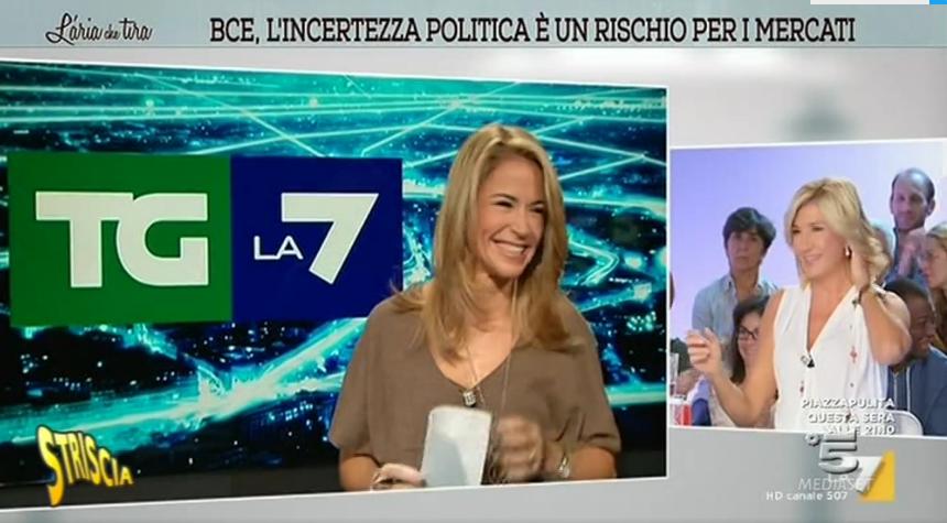 L'aria che tira: la giornalista Cristina Fantoni cade in diretta, video