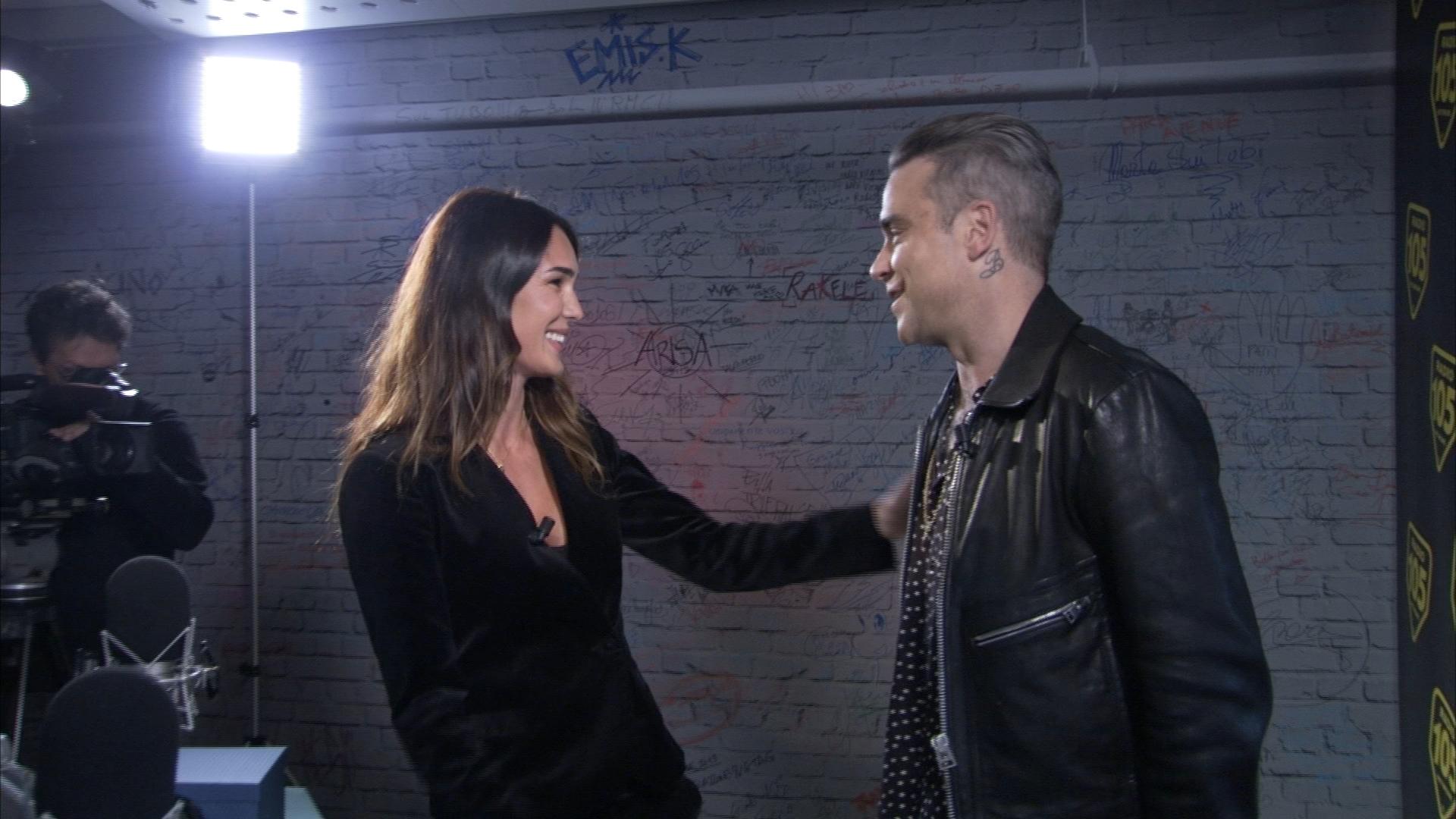 Robbie Williams a Verissimo: 'Tra vent'anni sarò ancora sul palco'