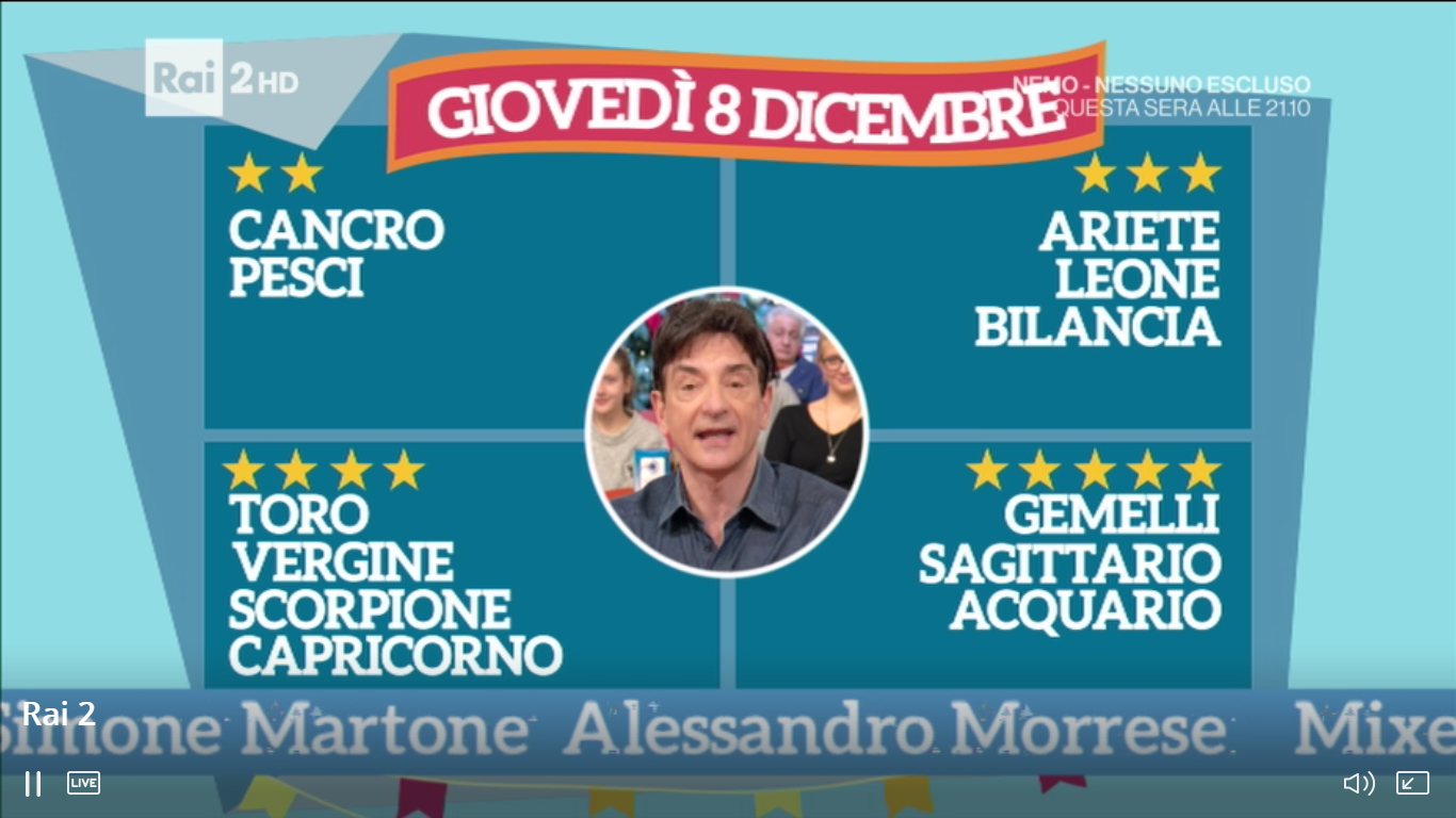 CLASSIFICA 8 DICEMBRE