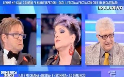 Domenica Live, lite tra Manuela Villa e Filippo Facci: 'Lei mi ha tirato uno schiaffo'