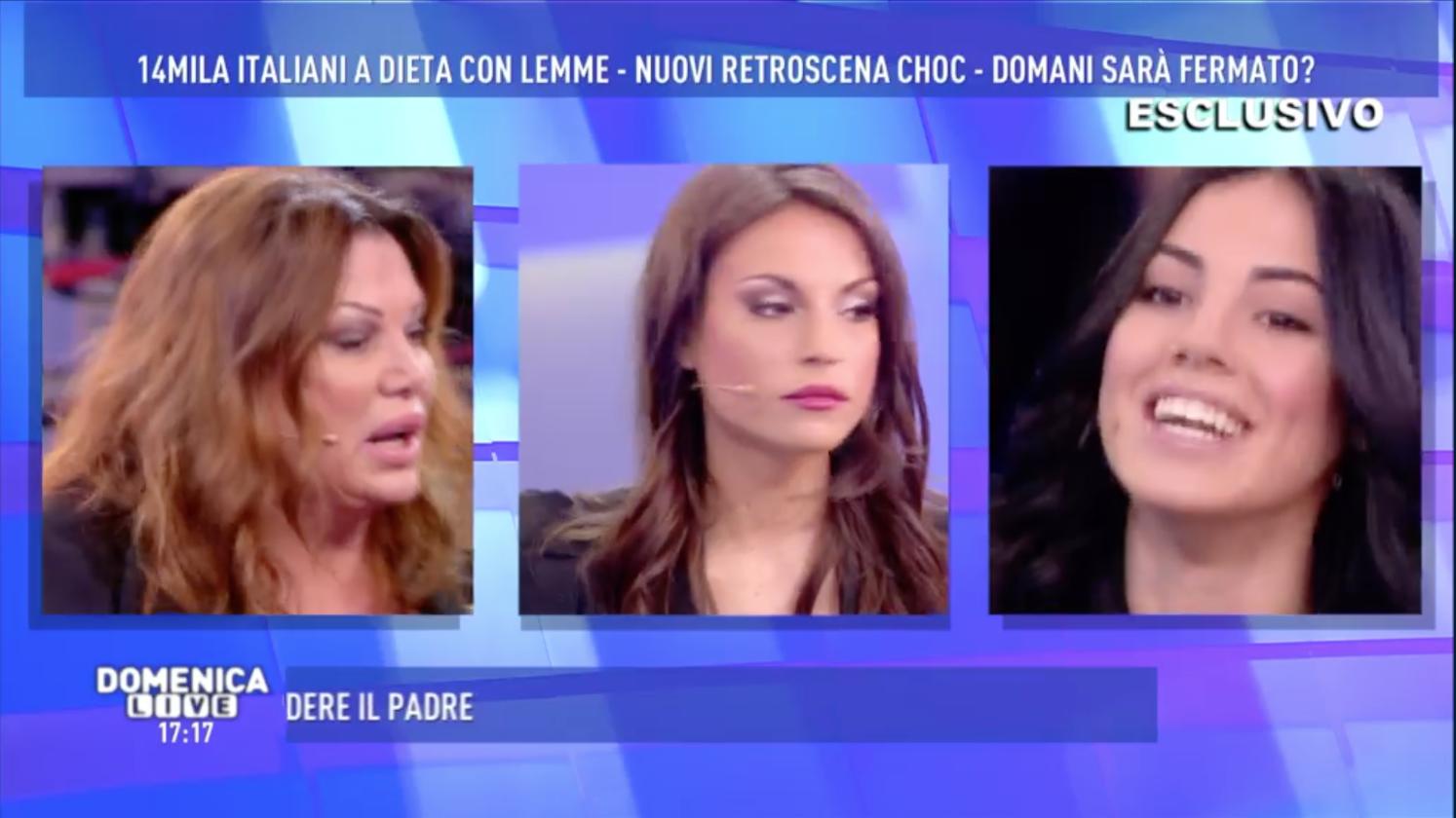 Domenica Live, il caos: dallo scontro tra Giulia De Lellis e Serena Grandi al video del dott. Lemme e Francesca De André