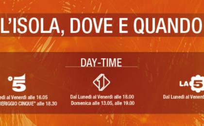 Daytime Isola dei Famosi 2017: gli orari degli appuntamenti su Canale 5, Italia 1 e La5