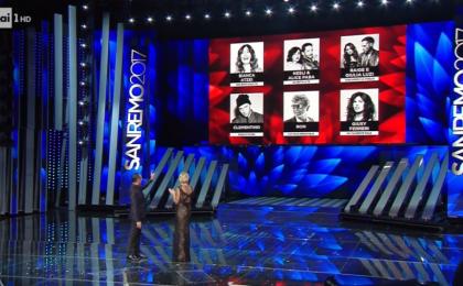 Festival di Sanremo 2017, seconda serata in diretta live