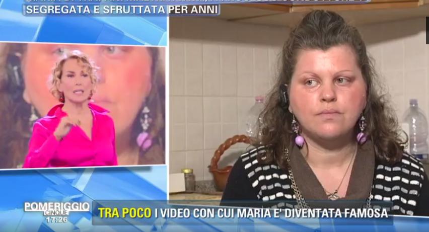 Maria di Trapani a Pomeriggio 5: 'Mi hanno maltrattata'