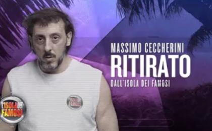 Massimo Ceccherini lascia L'Isola dei Famosi 2017