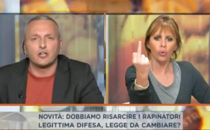 Dalla Vostra Parte, lite tra Alessandra Mussolini e Daniele Martinelli in diretta Tv