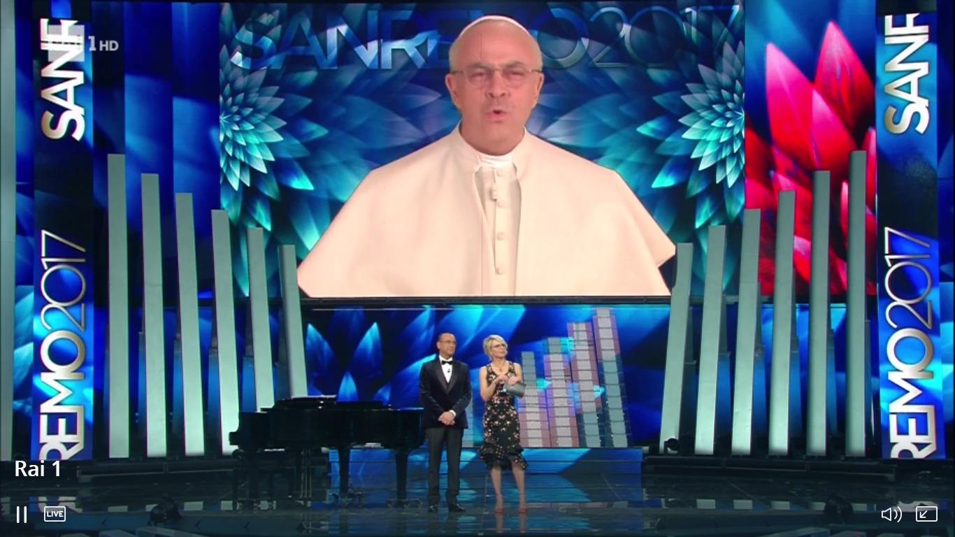 Sanremo 2017, la copertina di Crozza della terza serata: 'A Maria piace il vintage, ha sposato Costanzo'