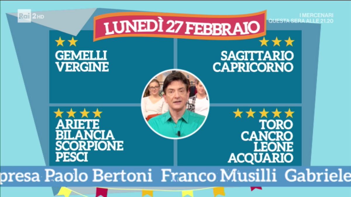 Oroscopo Paolo Fox 27 febbraio 2017 a I Fatti Vostri: previsioni amare per i Gemelli