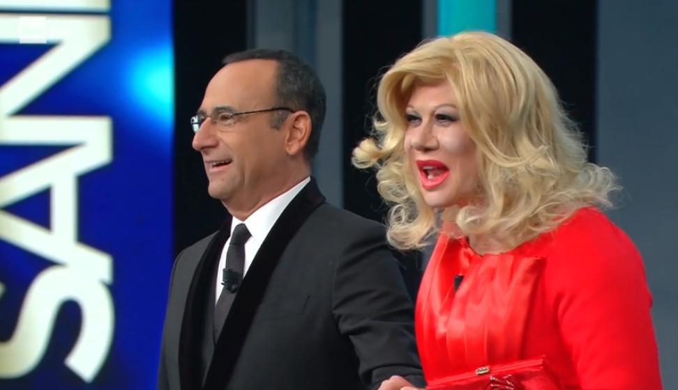 Sanremo 2017, Virginia Raffaele come Sandra Milo: l'omaggio a Fellini
