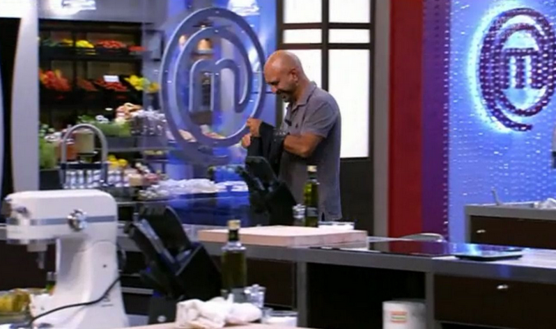 Antonio Capitani eliminato celebrity masterchef italia seconda puntata