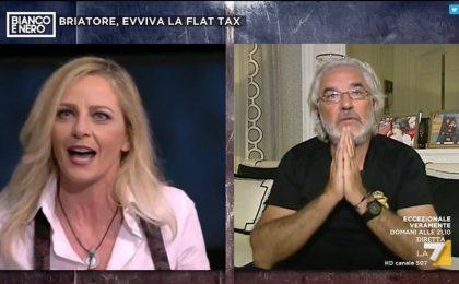 Bianco e Nero, Flavio Briatore contro Luisella Costamagna: la lite in diretta
