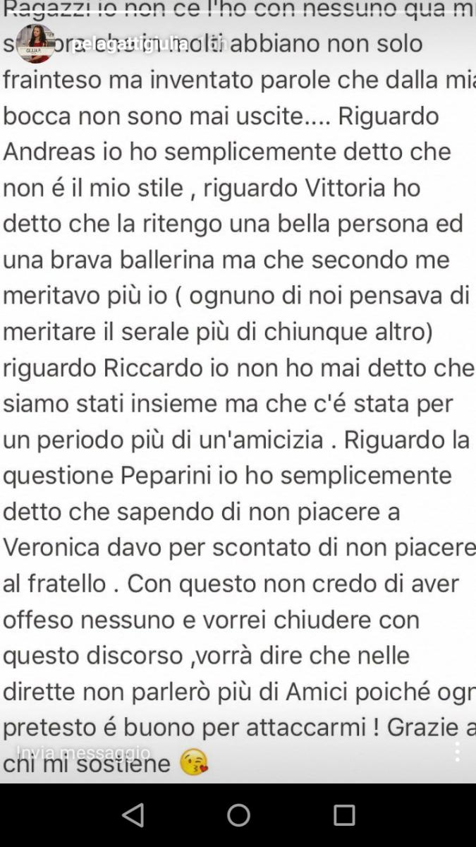 Giulia Pelagatti su Instagram