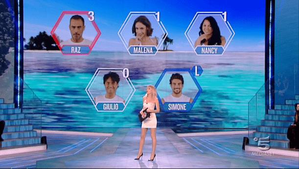 Isola dei famosi 12, schermata nomination
