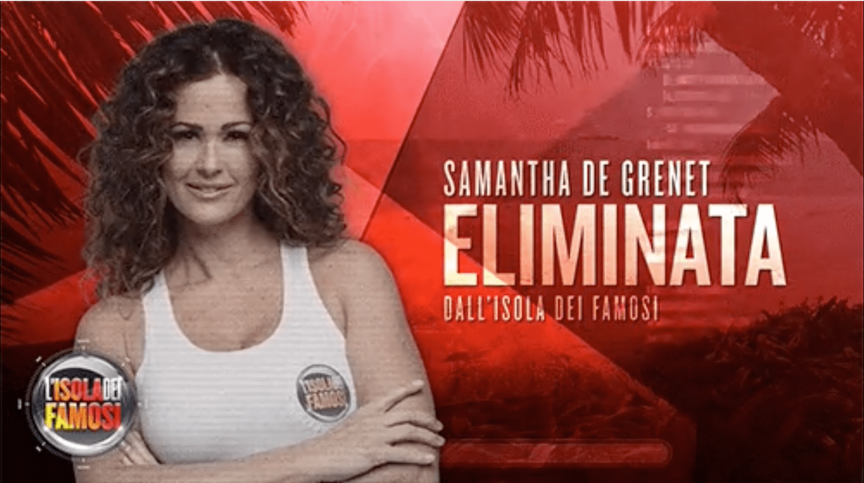 L'Isola dei Famosi 2017, eliminata Samantha de Grenet: la 'regina' abbandona la Palapa