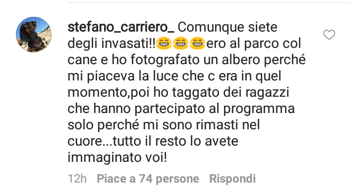 Stefano Carriero, post Uomini e Donne