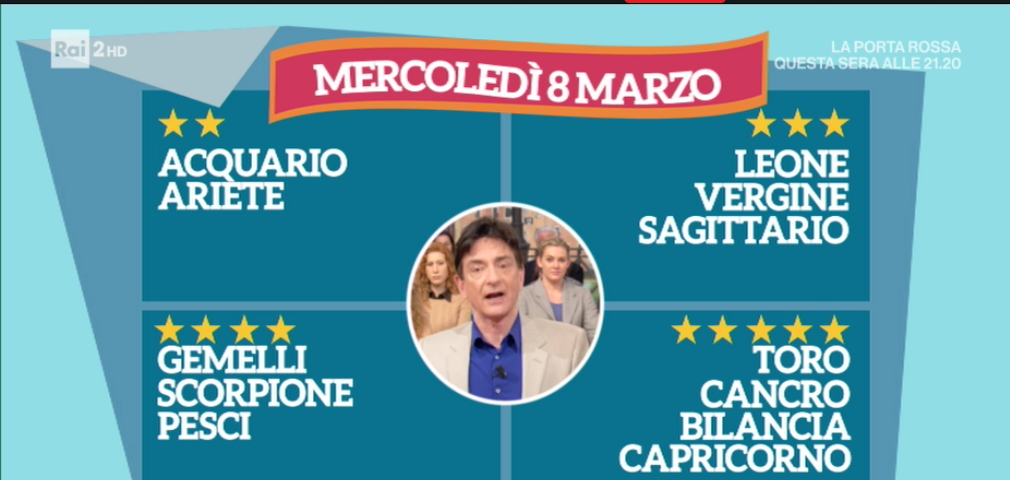 Oroscopo Paolo Fox 8 marzo 2017 a I Fatti Vostri: previsioni ragguardevoli per il Cancro