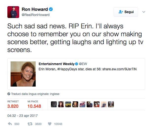 Tweet Ron Howard