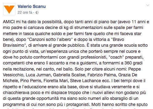 Valerio Scanu contro amici
