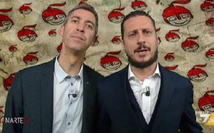 Luca e Paolo a diMartedì, la copertina del 25 aprile 2017: 'Se non fai le battute su Matteo Salvini ti tolgono la tessera di comico'