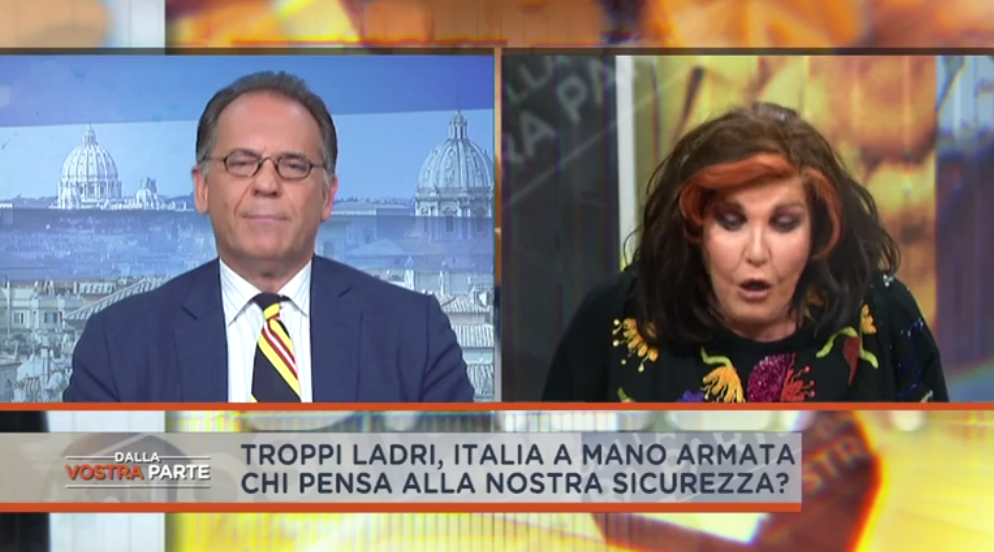 Dalla vostra parte: scontro tra Patrizia de Blanck e Alessandro Cecchi Paone in diretta TV