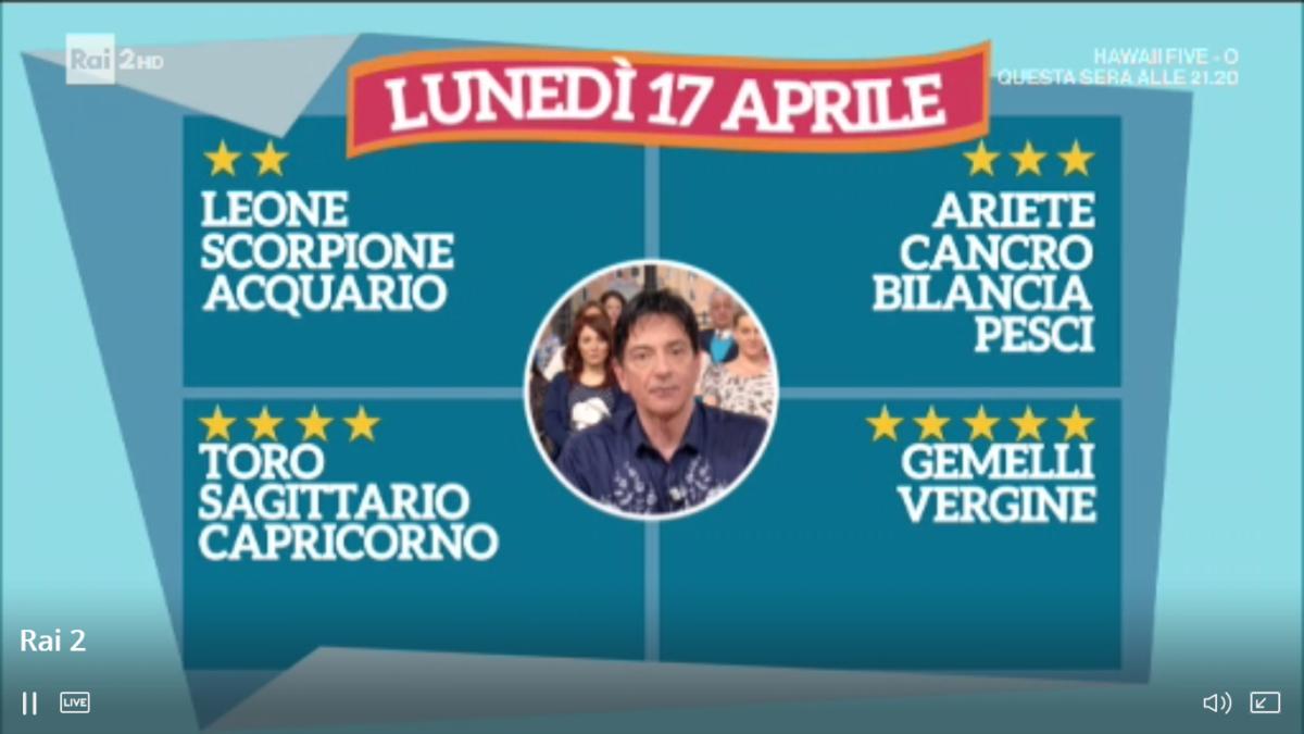 Oroscopo di oggi Paolo Fox 17 aprile 2017 a I Fatti Vostri: Gemelli, le stelle sono con voi