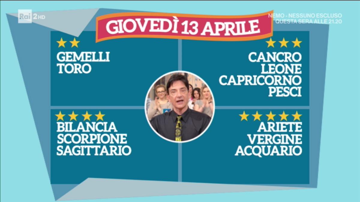 Oroscopo Paolo Fox 13 aprile 2017 a I Fatti Vostri: Acquario, le stelle vi ricompensano
