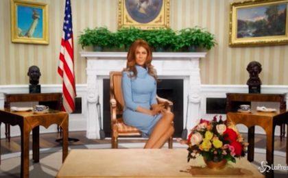 Virginia Raffaele è Melania Trump: la 'gaffe' della First Lady