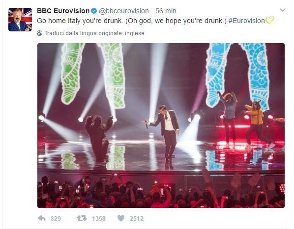 BBC Eurovision contro Gabbani