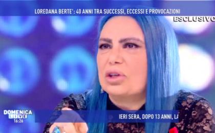 Loredana Bertè si confessa a Domenica Live: 'Sono stata violentata a 16 anni'