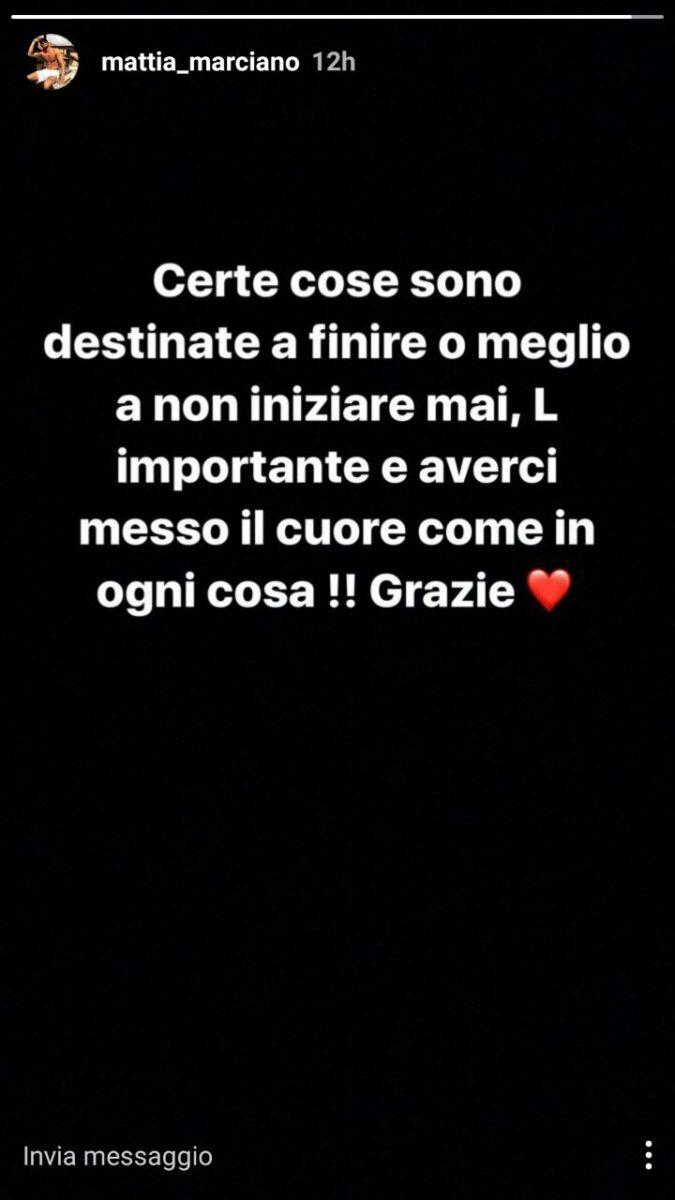 Mattia Marciano di Uomini e Donne su Instagram