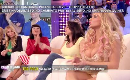 Pomeriggio 5, lite tra Ana Laura Ribas, Cristina Del Basso e Francesca Cipriani: protesi sì o no?