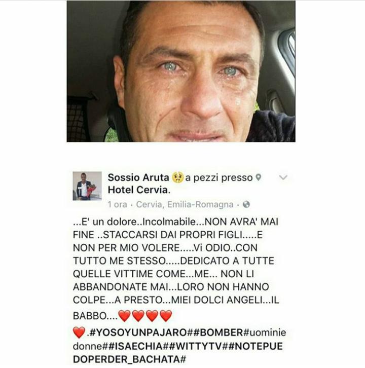 Sossio Aruta piange su Facebook