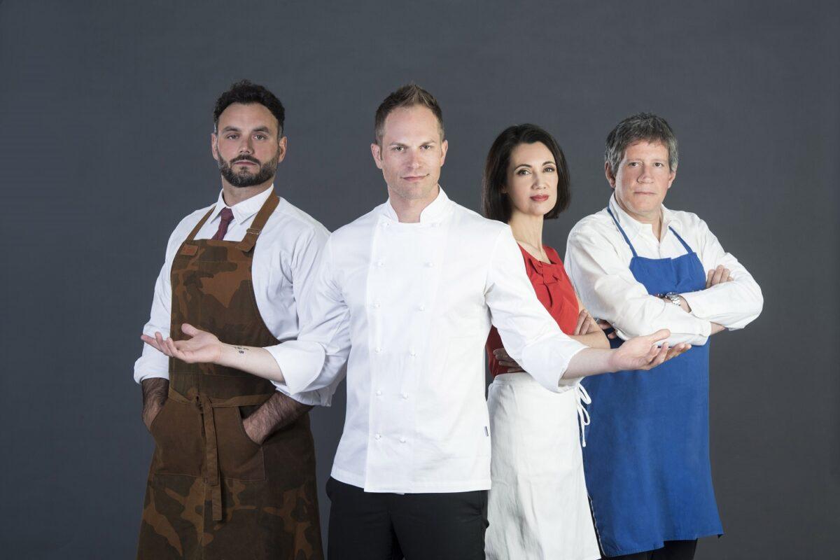 Cuochi e fiamme 2017, la giuria della nuova edizione in onda dal 22 maggio su La7: Riccardo Rossi, Barù e Csaba Dalla Zorza