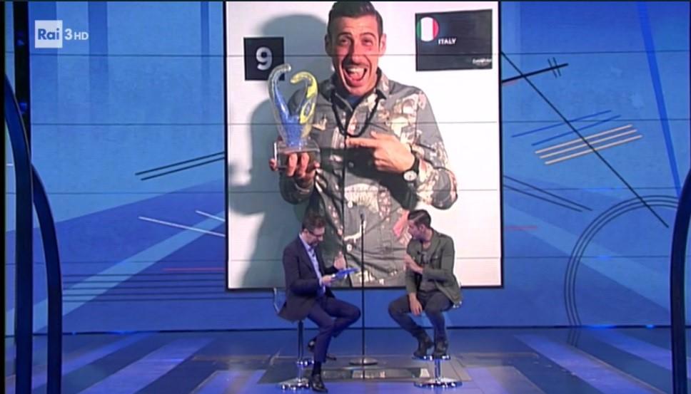 Eurovision 2017, Francesco Gabbani da Fazio: 'La vittoria? Aver riunito gli italiani che mi hanno supportato'