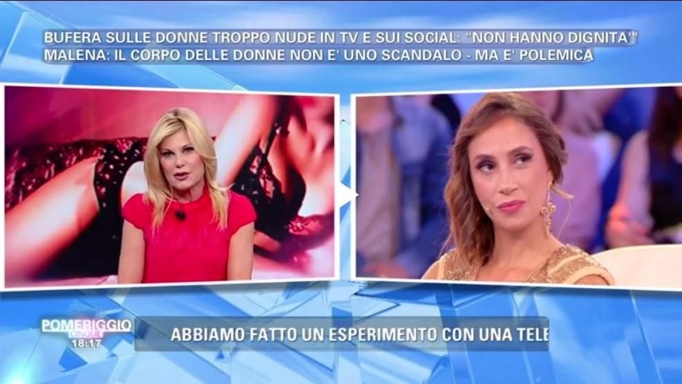 Pomeriggio 5, lite tra Malena e Patrizia Pellegrino: 'Se fossi in te mi vergognerei per quello che fai'
