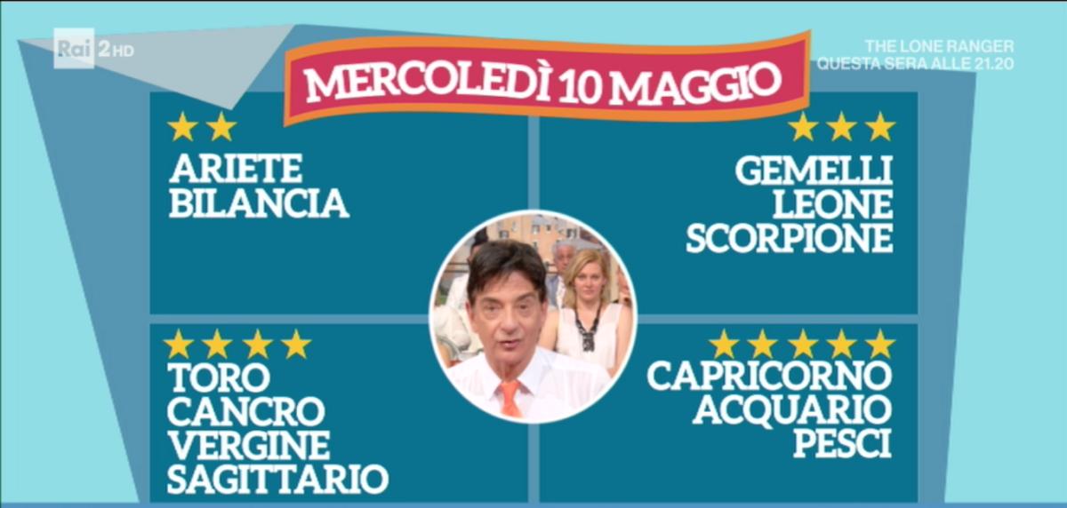 Oroscopo Paolo Fox 10 maggio 2017 a I Fatti Vostri: Acquario, stelle promettenti in amore