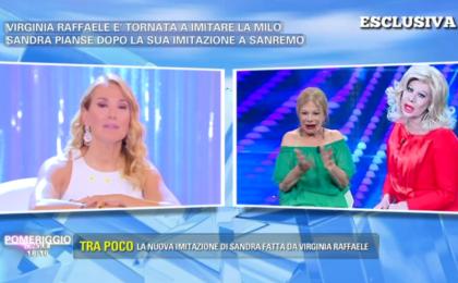 Pomeriggio 5, Sandra Milo critica le imitazioni di Virginia Raffaele: 'Non ha il senso dell'ironia'