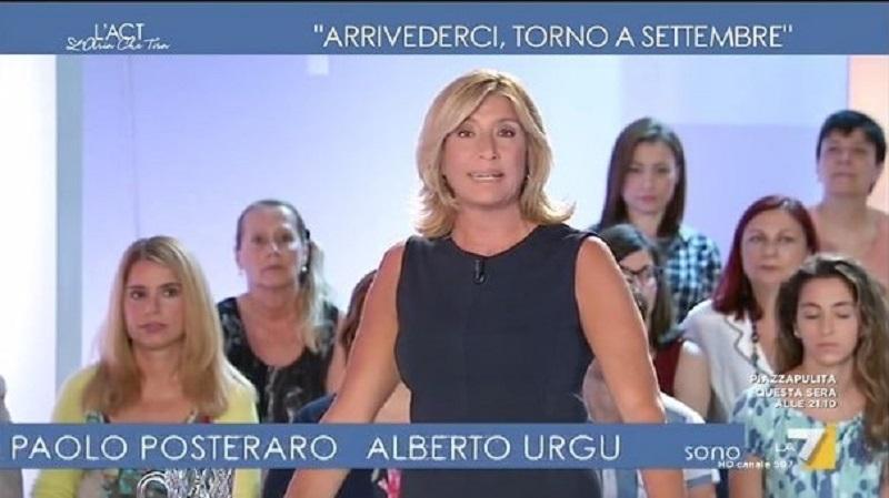 L'Aria che tira, Myrta Merlino sostituita da David Parenzo: 'Ho un problema familiare, ci vediamo a settembre'