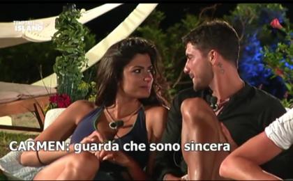 Temptation Island, puntata del 10 luglio 2017: Alessio vicino a Carmen, Valeria furiosa pensa alla rottura