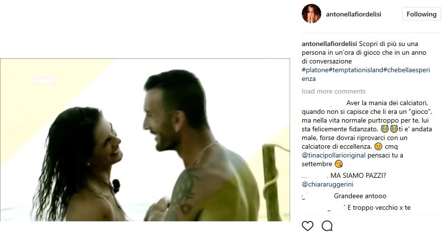 Antonella Fiordelisi su Instagram, il video con Nicola
